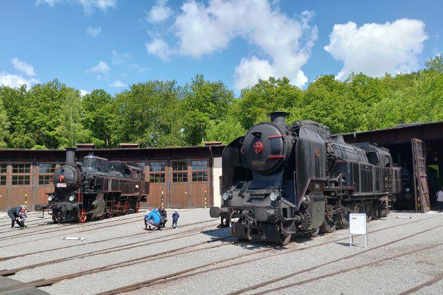 Parní lokomotivy vLužné u Rakovníka