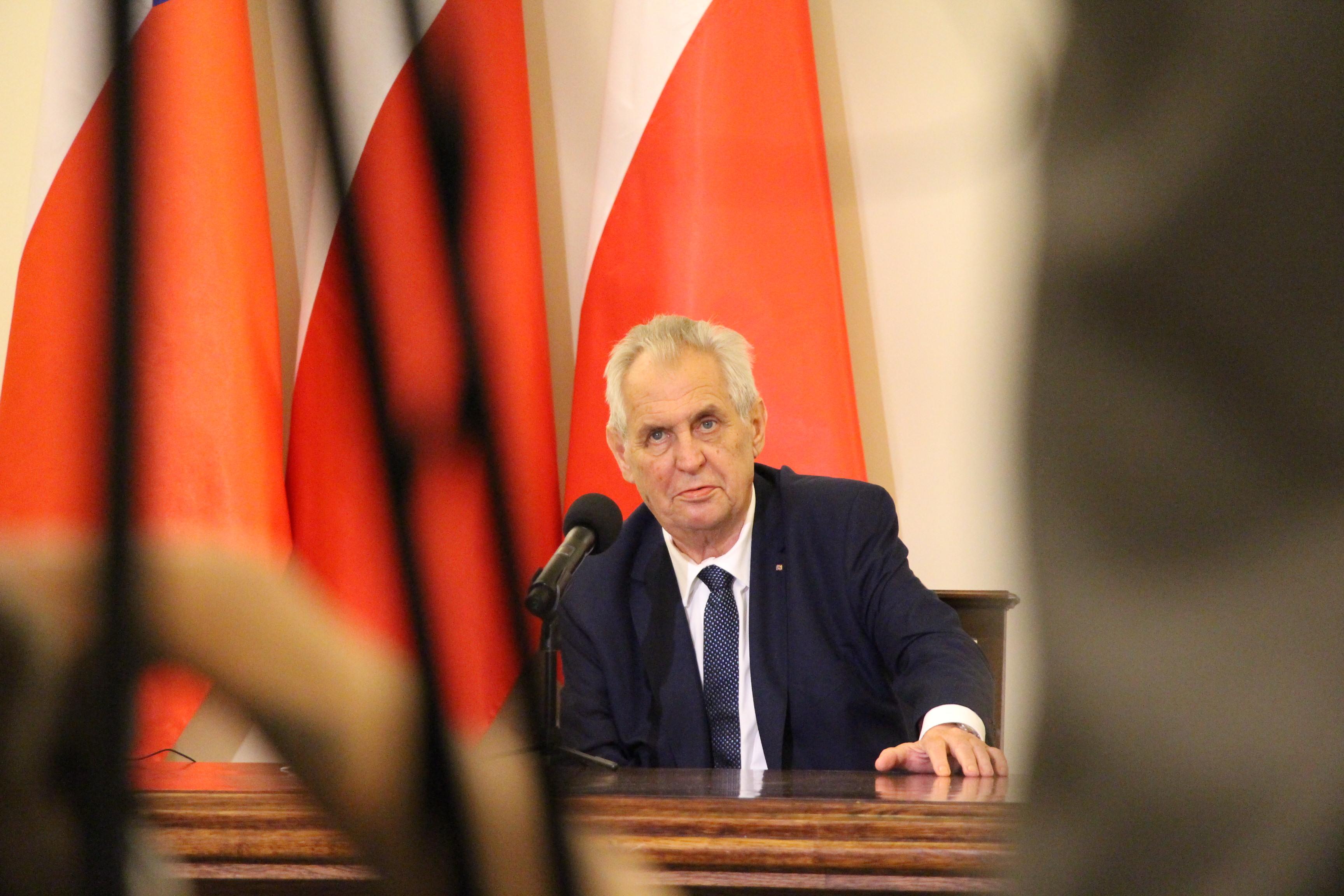 Prezident Miloš Zeman na návštěvě Polska